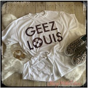 GEEZ LOUIS Louis Vuitton Graphic Print T-shirt